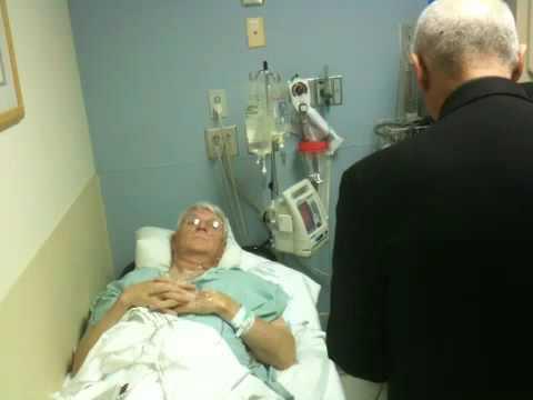 Dad Receiving Sacrament of the Sick