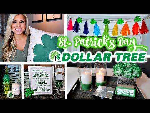 DOLLAR TREE DIYS | ST. PATRICK'S DAY HOME DECOR | SIMPLE & QUICK