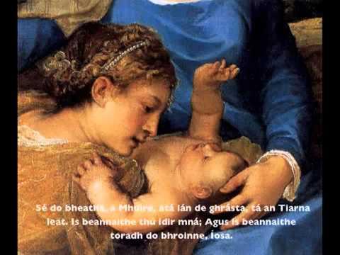 Irish Rosary Joyful Mysteries; Coroin Mhuire Na Rundiamhra Solasacha