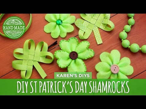 DIY Easy St. Patrick's Day Shamrocks - HGTV Handmade
